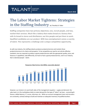 WHITEPAPER - Tight Labor Market